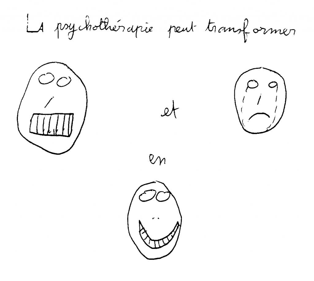 Dessin sur la psychothérapie